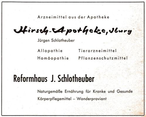 Gewerbliche Anzeige, 1962