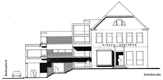 Planungsentwurf des Neubaus, 1972