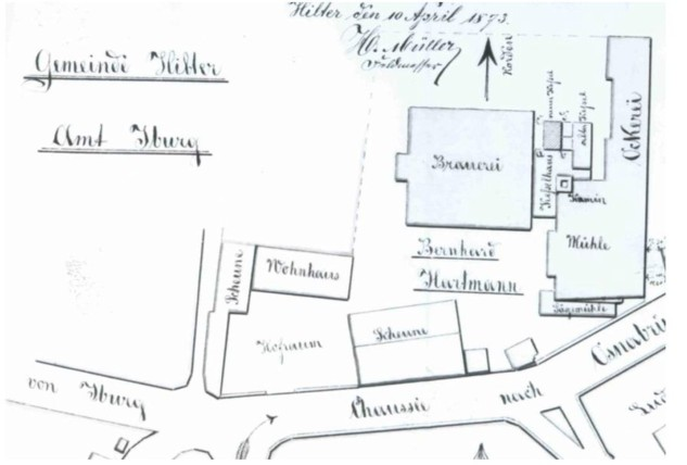 Situationsplan anno 1873