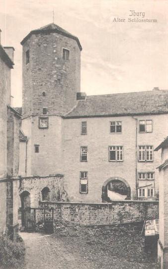 Bergfried auf einer Ansichtskarte, gelaufen 1905