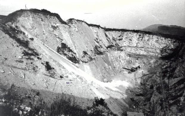 Blick in den nordwestlichen Steinbruch, 1960