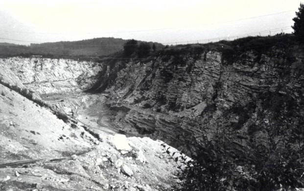 Bllick in den südöstlichen Steinbruch, 1960