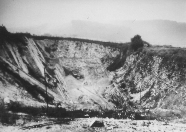 Blick von Westen in den Steinbruch, 1960