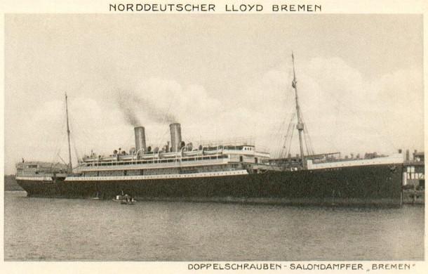 """Passagierschiff """"Bremen"""", ab 1928 unter dem Namen """"Karlsruhe"""" fahrend"""