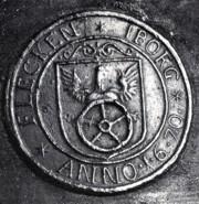 Wappen auf einer Glocke aus dem Jahr 1670