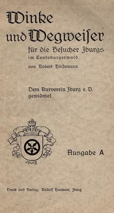 Winke und Wegweiser für die Besucher Iburgs, 1937