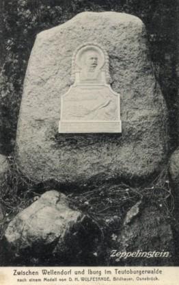 Ansichtskarte Zeppelinstein, 1911