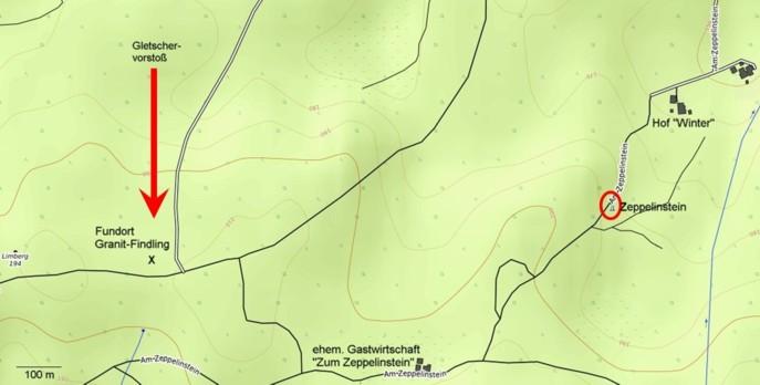 Lageplan am Zeppelinstein