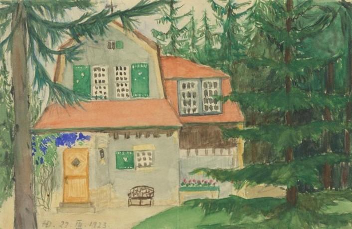 Zeichnung Haus Dütting