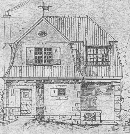 Entwurfszeichnung Haus Dütting